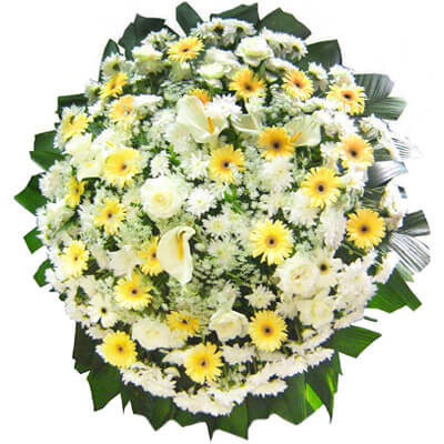 Coroa De Flores Luxo 01 Coroas Para Velório